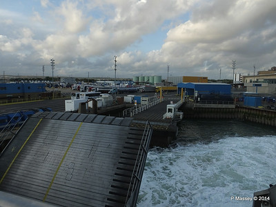 Berthing at Portsmouth International Port PDM 11-08-2014 19-20-03