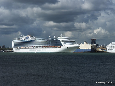 EMERALD PRINCESS Departing Southampton PDM 24-05-2014 16-49-01