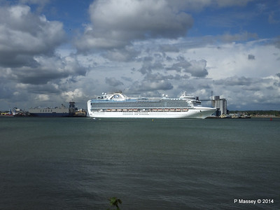 EMERALD PRINCESS Departing Southampton PDM 24-05-2014 16-51-00