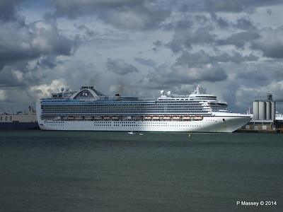EMERALD PRINCESS Departing Southampton PDM 24-05-2014 16-50-43