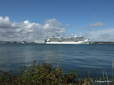 CELEBRITY ECLIPSE Departing Southampton PDM 02-08-2014 16-52-00