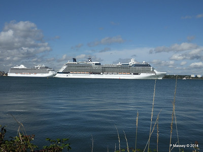 CELEBRITY ECLIPSE Departing Southampton PDM 02-08-2014 16-52-44