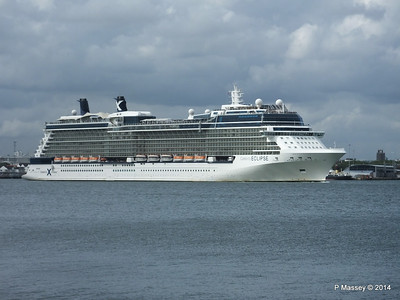 CELEBRITY ECLIPSE Departing Southampton PDM 05-07-2014 16-55-58