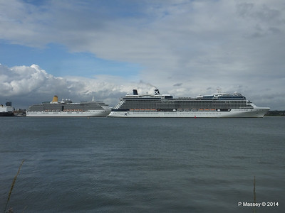 CELEBRITY ECLIPSE Departing Southampton PDM 05-07-2014 16-59-01