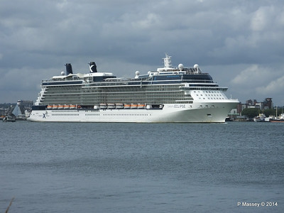 CELEBRITY ECLIPSE Departing Southampton PDM 05-07-2014 16-55-42