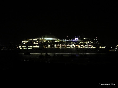 OCEANA Departing Southampton for World Cruise PDM 02-01-2014 17-39-56