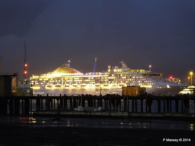 OCEANA Departing Southampton for World Cruise PDM 02-01-2014 16-59-41