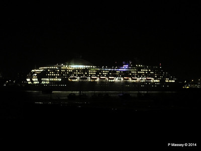 OCEANA Departing Southampton for World Cruise PDM 02-01-2014 17-39-52
