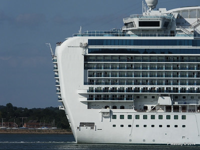 RUBY PRINCESS Departing Southampton PDM 22-07-2014 17-44-04