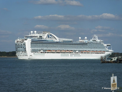 RUBY PRINCESS Departing Southampton PDM 22-07-2014 17-45-57