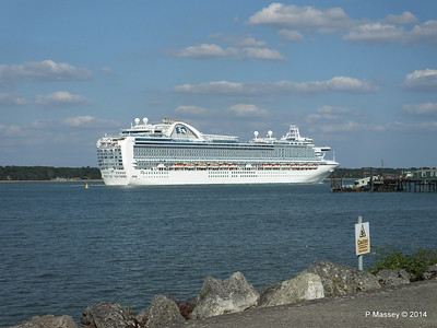 RUBY PRINCESS Departing Southampton PDM 22-07-2014 17-45-50