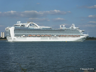 RUBY PRINCESS Departing Southampton PDM 22-07-2014 17-45-11
