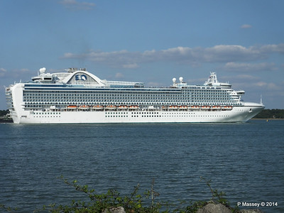 RUBY PRINCESS Departing Southampton PDM 22-07-2014 17-44-38