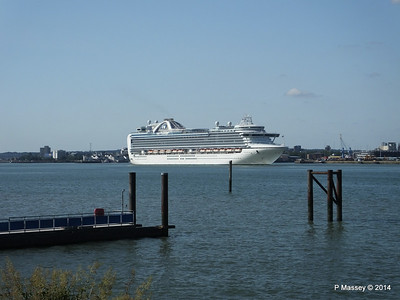 RUBY PRINCESS Departing Southampton PDM 22-07-2014 17-40-13