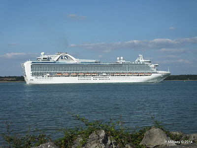 RUBY PRINCESS Departing Southampton PDM 22-07-2014 17-44-32
