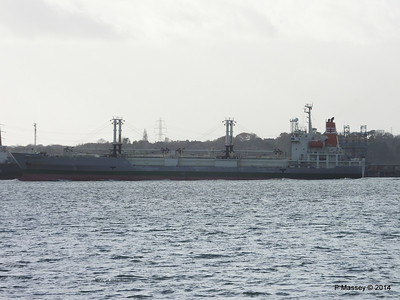 NAGATO REEFER Outbound Southampton at Fawley PDM 10-12-2014 12-50-38