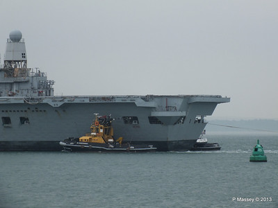 HMS ARK ROYAL tow to Aliaga PDM 20-05-2013 13-43-50