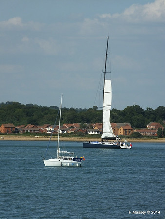 LEOPARD GBR-1R taking down sails Southampton Water PDM 22-07-2014 17-23-39
