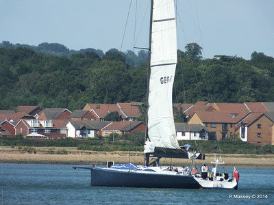 LEOPARD GBR-1R taking down sails Southampton Water PDM 22-07-2014 17-23-50