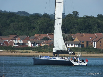 LEOPARD GBR-1R taking down sails Southampton Water PDM 22-07-2014 17-23-52