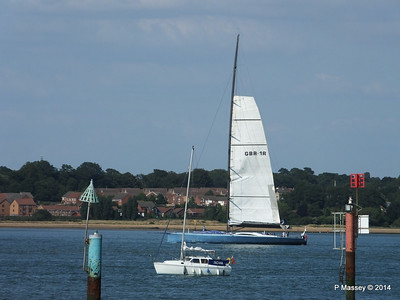 LEOPARD GBR-1R taking down sails Southampton Water PDM 22-07-2014 17-23-11