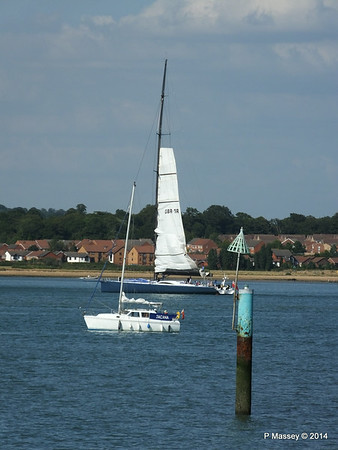 LEOPARD GBR-1R taking down sails Southampton Water PDM 22-07-2014 17-23-29