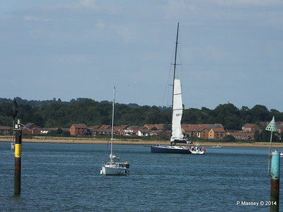 LEOPARD GBR-1R taking down sails Southampton Water PDM 22-07-2014 17-23-47
