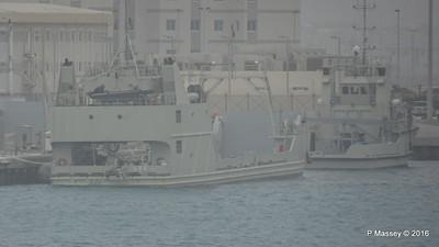 UAE Navy Landing Craft L66 with Tug Mina Zayed Abu Dhabi PDM 23-03-2016 17-14-06