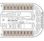 Yacht Club Pyramids Deck 18 MSC MERAVIGLIA Jul 2017