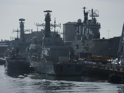 F78 HMS KENT &234 HMS IRON DUKE R06 HMS ILLUSTRIOUS Portsmouth PDM 29-06-2015 07-58-42