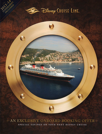 Disney Cruise Lines 2013-14 Onboard Booking Offers