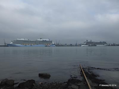 QUANTUM OF THE SEAS CELEBRITY ECLIPSE Southampton PDM 30-10-2014 14-04-03