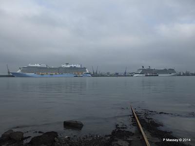 QUANTUM OF THE SEAS CELEBRITY ECLIPSE Southampton PDM 30-10-2014 14-04-005