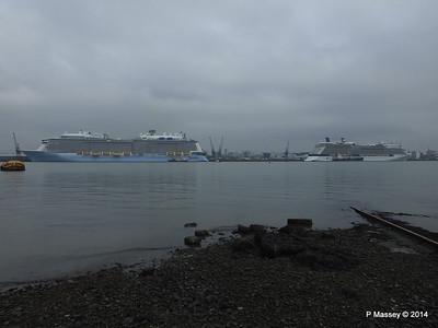 QUANTUM OF THE SEAS CELEBRITY ECLIPSE Southampton PDM 30-10-2014 14-01-12