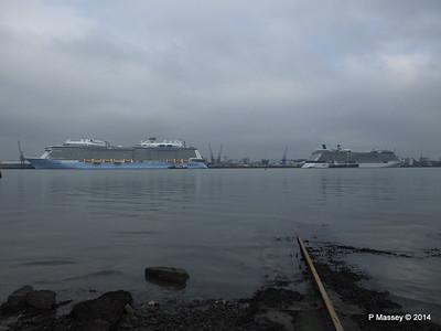 QUANTUM OF THE SEAS CELEBRITY ECLIPSE Southampton PDM 30-10-2014 14-04-18