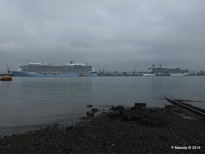 QUANTUM OF THE SEAS CELEBRITY ECLIPSE Southampton PDM 30-10-2014 14-01-11