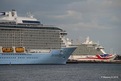 ANTHEM OF THE SEAS Passing BRITANNIA Southampton PDM 15-08-2015 16-58-12