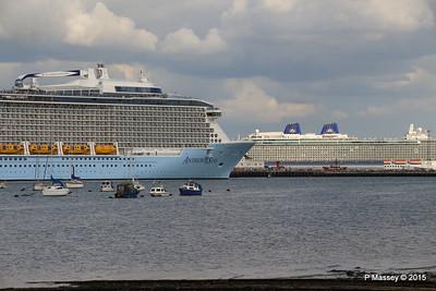 ANTHEM OF THE SEAS Passing BRITANNIA Southampton PDM 15-08-2015 16-56-59