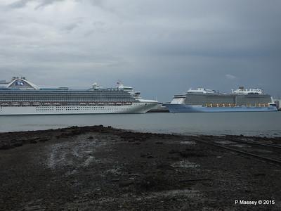 CARIBBEAN PRINCESS ANTHEM OF THE SEAS Southampton PDM 29-08-2015 15-48-13