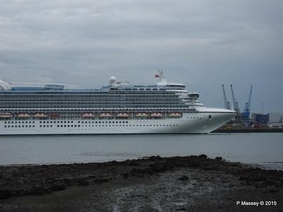 CARIBBEAN PRINCESS Departing Southampton PDM 29-08-2015 15-47-55