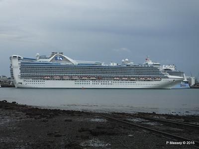 CARIBBEAN PRINCESS Departing Southampton PDM 29-08-2015 15-49-08