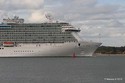 ROYAL PRINCESS Departing Southampton PDM 09-05-2015 17-46-57