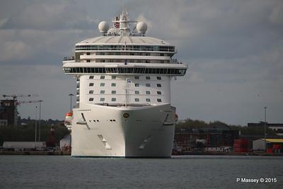 ROYAL PRINCESS Departing Southampton PDM 09-05-2015 17-43-01