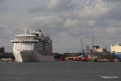 ROYAL PRINCESS Departing Southampton PDM 09-05-2015 17-41-45