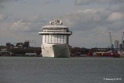 ROYAL PRINCESS Departing Southampton PDM 09-05-2015 17-42-46